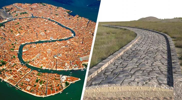 Venedig, eine römische Straße auf dem Grund der Lagune entdeckt: älter als die Stadt selbst