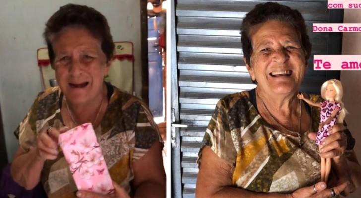 La nipote regala una Barbie alla nonna che compie 76 anni, realizzando il suo sogno di quando era bambina