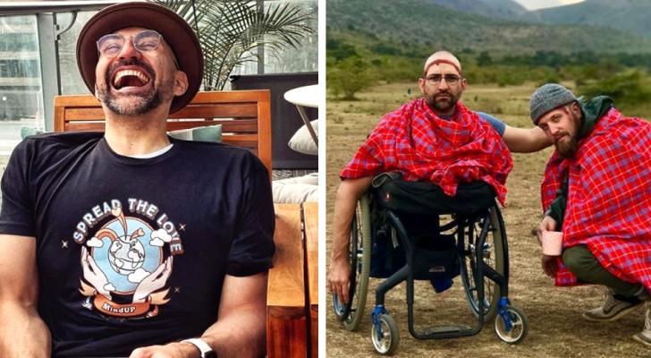 Non ha le gambe, ma ha scalato il Kilimangiaro con la forza delle sole braccia: per lui niente è impossibile