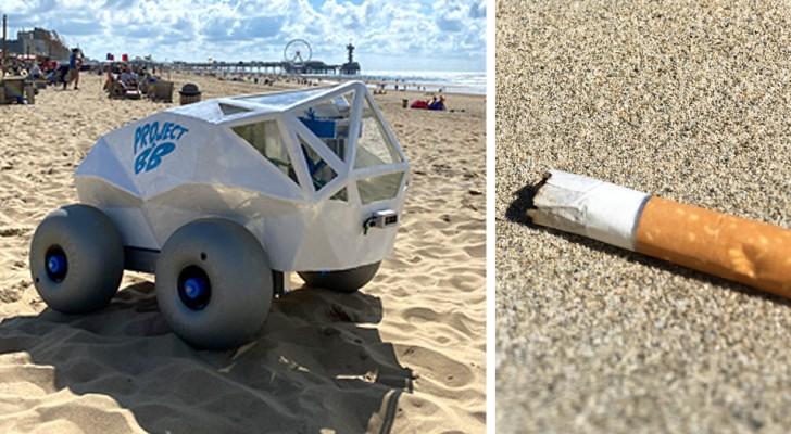 Arriva il robot intelligente che ripulisce le spiagge dai mozziconi di sigaretta