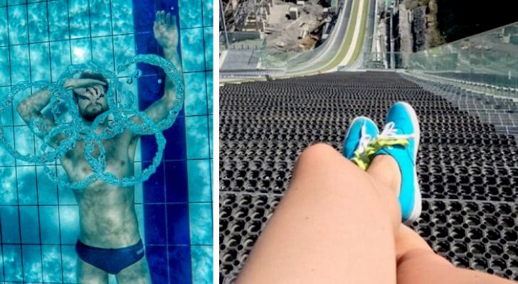 Die Olympischen Spiele, wie Sie sie noch nie gesehen haben: 15 Fotos, die die Athleten aus neuen Perspektiven zeigen