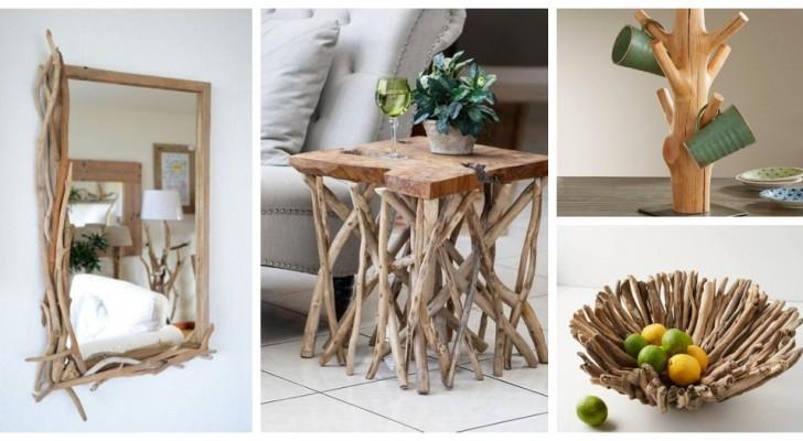 Trasforma dei semplici rami di legno in oggetti d'arredo pieni di carattere per la tua casa