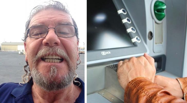 Er findet 500 $ im Schlitz des Geldautomaten und gibt sie zurück: Es war die gesparte Miete einer 92-jährigen Seniorin