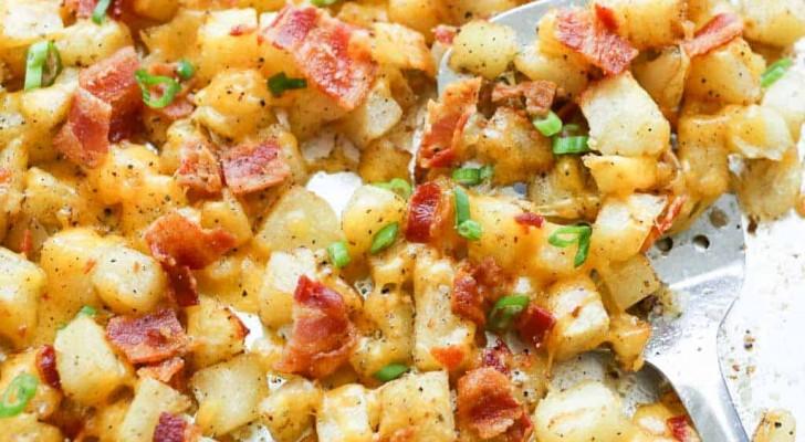 Envie d'un plat délicieux et savoureux ? Préparez ces pommes de terre à la paysanne avec 3 ingrédients