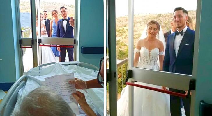 Il nonno non può esserci al matrimonio: gli sposi vengono da lui nell'hospice per esaudire il suo grande desiderio