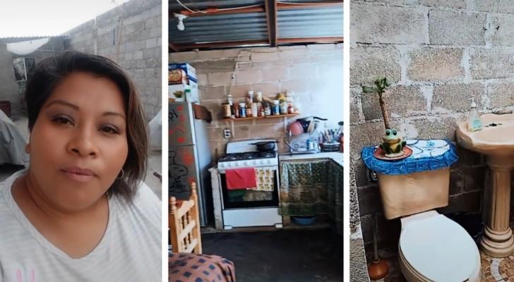 Ein hässliches Haus gibt es nicht: Eine Frau zeigt stolz ihr bescheidenes Haus