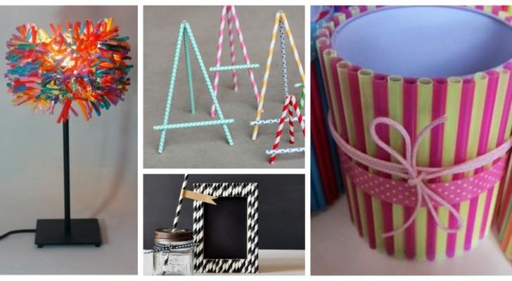 Découvrez combien de projets créatifs vous pourriez réaliser en recyclant les pailles colorées
