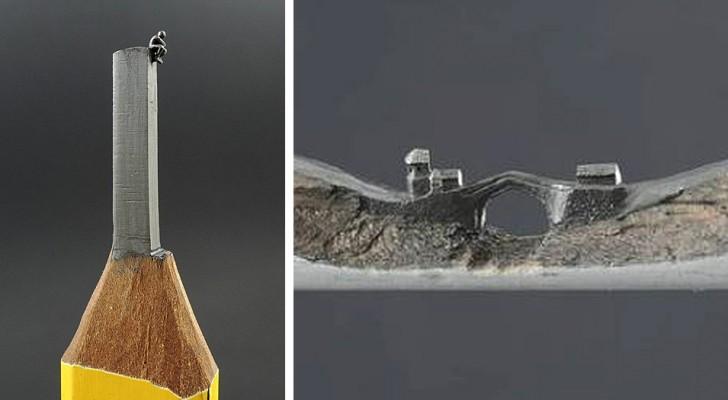 Questo artista trasforma semplici matite in straordinarie opere d'arte in miniatura