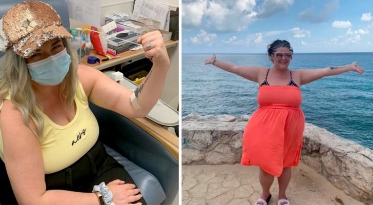 En kvinna blir frisk från cancer medan hon reser världen runt trots att läkarna gett henne ett år att leva