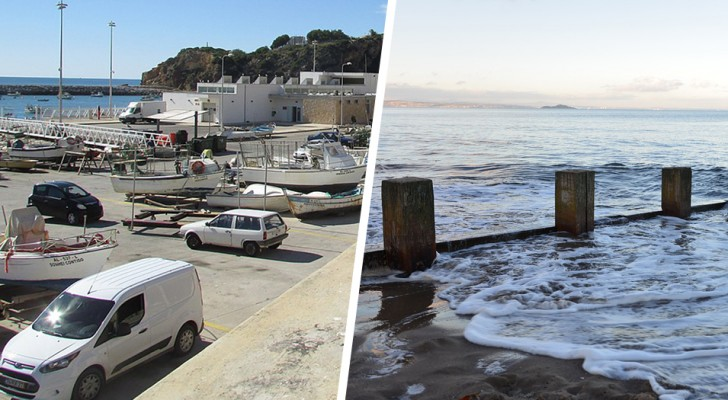 Hij parkeert het busje op het strand waar het verboden is te parkeren en wanneer hij terugkomt, vindt hij het ondergedompeld in het water