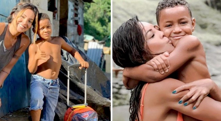 An actress adopts a child who lives in a landfill: He taught me to be more grateful for life