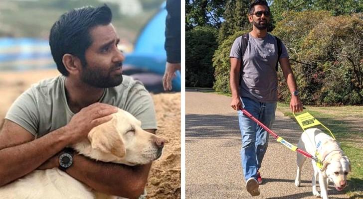 Pierde la vista repentinamente, pero encuentra la esperanza gracias a un perro guía: Me ha devuelto la confianza y la independencia