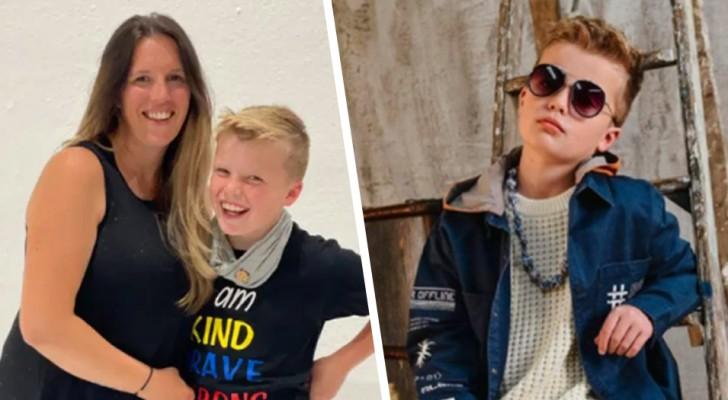 Bambino si rifiuta di andare a scuola se non veste abiti firmati: la mamma spende più di £2000 per il suo guardaroba