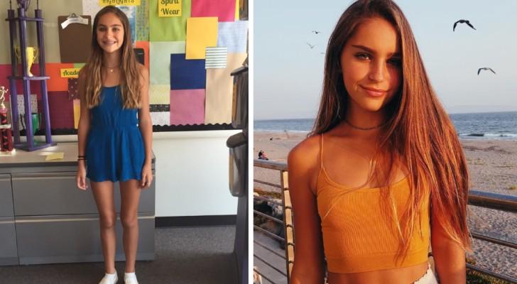 13-jarig meisje van school gestuurd omdat haar kleding de jongens afleidt