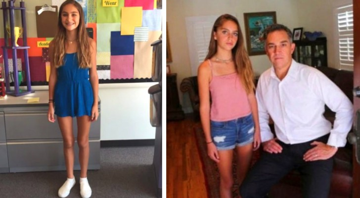 A 13-year-old is girl expelled from school because her outfit