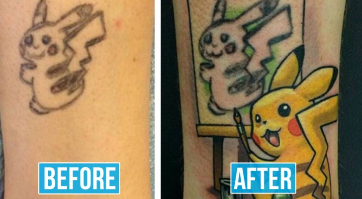 15 volte in cui i tatuatori hanno trasformato un tatuaggio scadente in un vero capolavoro