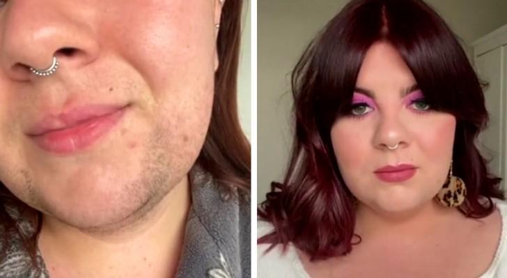 """Diese junge Frau zeigt in einem Video ihren """"Bart"""" und verteidigt sich vor der Kritik derer, die ihr sagen, sie sehe aus wie ein Mann"""
