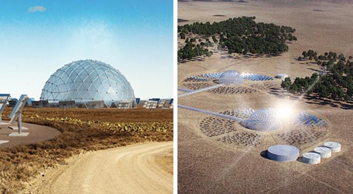 Queste cupole solari desalinizzano l'acqua marina usando l'energia solare: il progetto a impatto zero