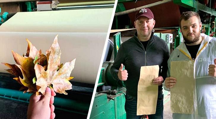 Uno studente riesce a trasformare le foglie secche in carta: il progetto per salvare gli alberi