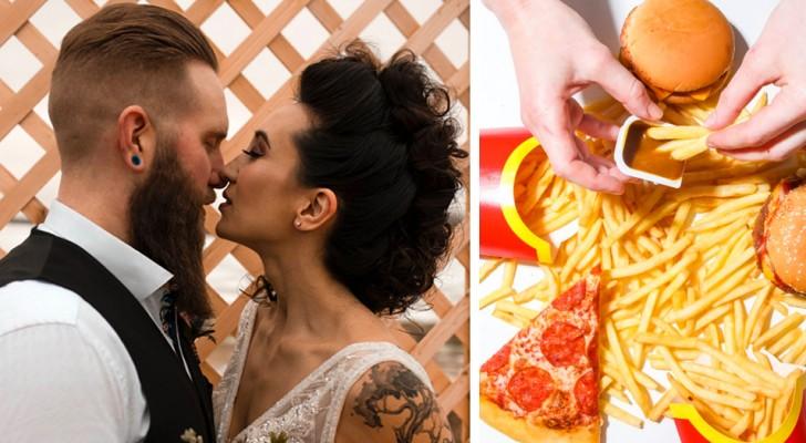 Novia quiere pizza y sándwiches de McDonald's en el menú: una boda poco tradicional y económica