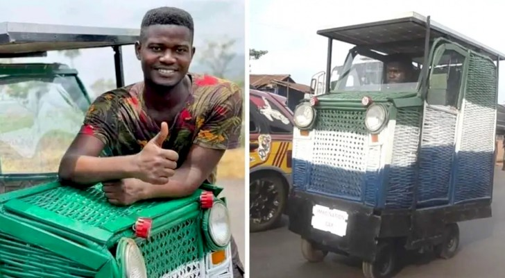 At 24, he made a car out of scraps and waste that is sustainable and can also be driven by the disabled