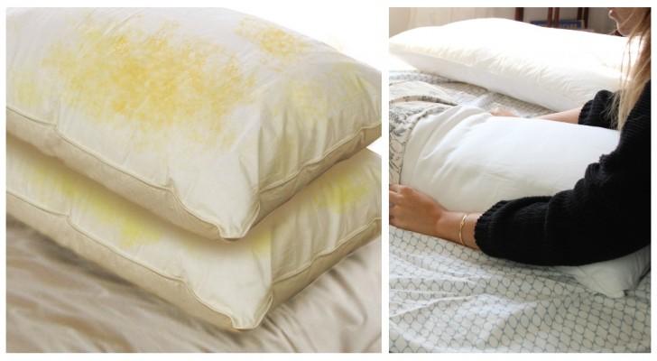 Macchie di sudore sui cuscini? Falle sparire con questi semplici rimedi casalinghi