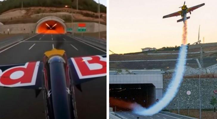 Un pilota fa volare un aereo attraverso due tunnel: è la prima volta nella storia dell'aviazione