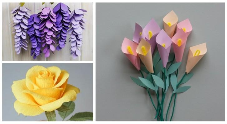 Dai vita a fantastici fiori di carta colorati da usare in mille lavoretti creativi