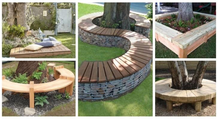 Le banc à l'ombre de l'arbre : les plus belles idées pour construire votre banc autour du tronc