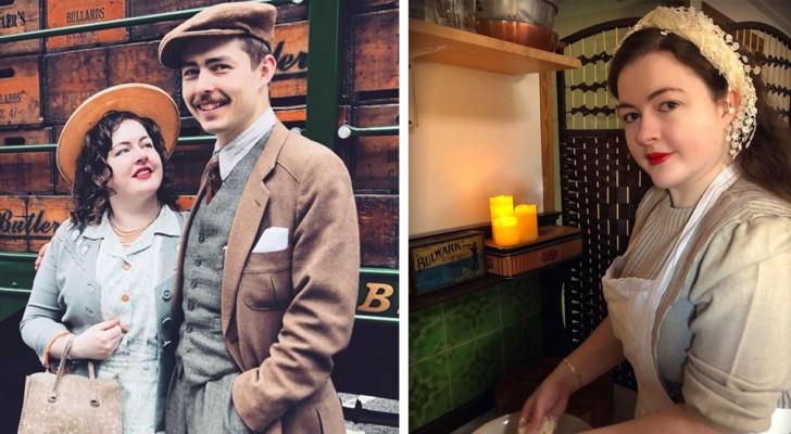 Questa giovane coppia di fidanzatini si veste e vive come se fosse ancora negli anni '30