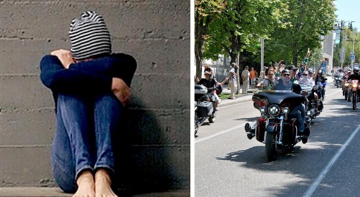 Mädchen wird von fast 300 Bikern zum Abschlussball begleitet: Sie wurde wegen ihrer Legasthenie schikaniert
