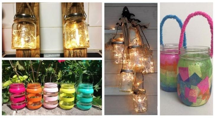 Recyclez avec créativité les bocaux en verre pour en obtenir de fantastiques lanternes