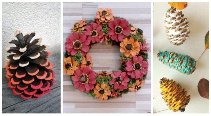 Transformez les pommes de pin en fantastiques décorations pleines de créativité
