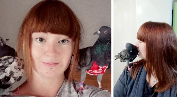 Salva a dos palomas de la calle y gasta más de 4000 £ al año para su guardarropa: son como sus hijos