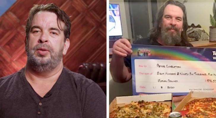Han vinner nästan en miljon dollar på lotto, men föredrar att ge bort dem till sin familj istället för att behålla dem