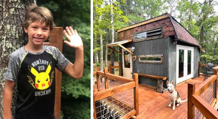 Bimbo di 9 anni progetta e costruisce la sua casa sull'albero: è completa di tutto e la affitta su Airbnb