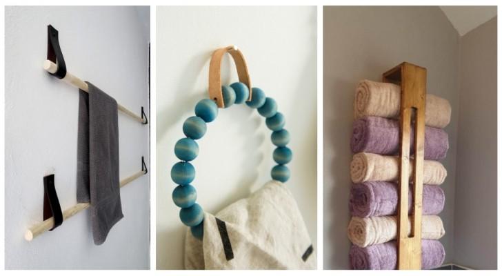 Porte-serviettes dans la salle de bain: laissez-vous inspirer par de nombreux projets DIY design