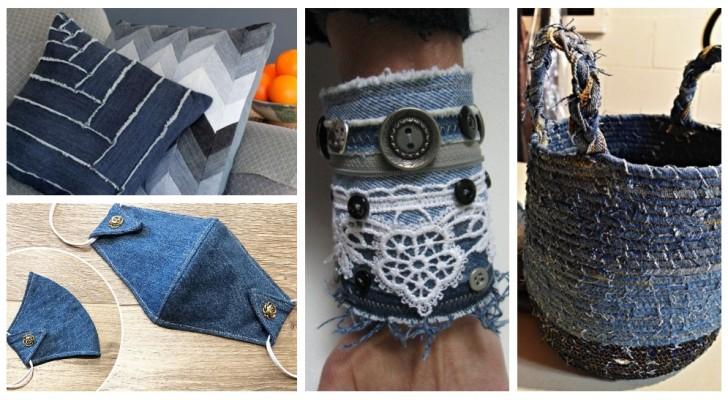 Dai nuova vita ai vecchi indumenti di jeans trasformandoli in tanti accessori fantastici
