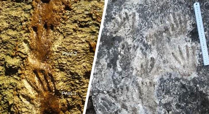 Queste impronte scoperte in Tibet potrebbero essere le prime forme d'arte conosciute