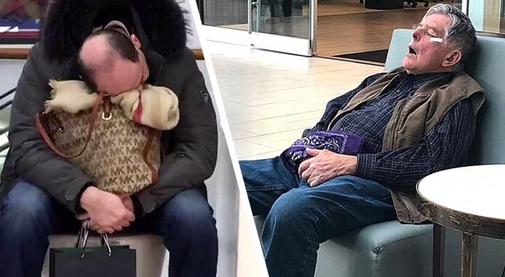 17 foto esilaranti ci mostrano uomini miserabili alle prese con donne che fanno shopping