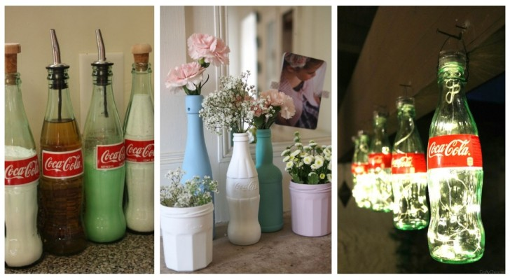Bottiglie di Coca Cola per arredare casa: tante idee creative tutte da scoprire