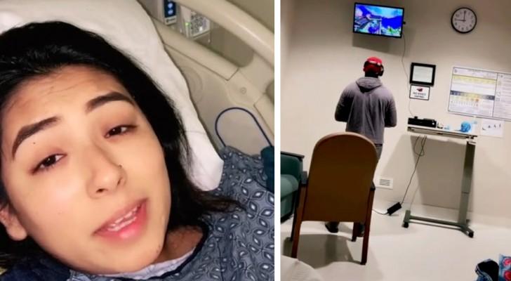 Ze heeft weeën, haar partner komt het ziekenhuis binnen met de Xbox en begint te spelen in afwachting van de bevalling