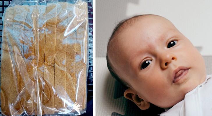 Te vroeg geboren baby werd zo klein geboren dat ze in een plastic boterhamzakje paste