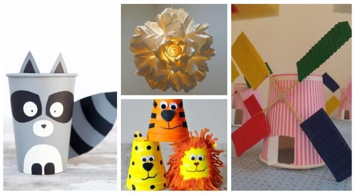 Ricicla i bicchieri di plastica o carta per trasformarli in lavoretti creativi adatti anche ai bambini