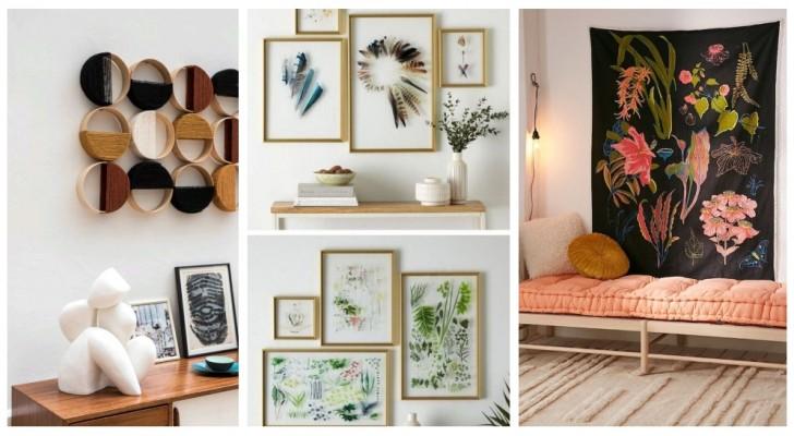 Pareti vuote e noiose? Ravvivale con lavoretti e decorazioni personalizzate, semplici e creative