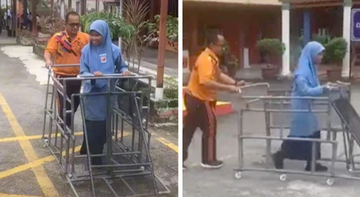 A teacher builds a special cart for his blind students: So they can explore the outside world