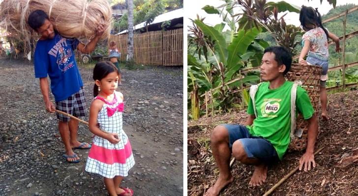 Dieses fünfjährige Mädchen begleitet seinen blinden Vater jeden Tag zur Arbeit auf der Plantage