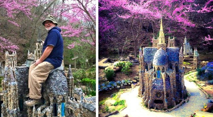 Ein Rentnerehepaar hat einen märchenhaften Garten mit mehr als 80 Miniaturgebäuden angelegt