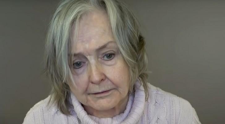 Ela tem 80 anos e estava cansada de sua aparência desleixada: um cabeleireiro a transforma em uma princesa de verdade