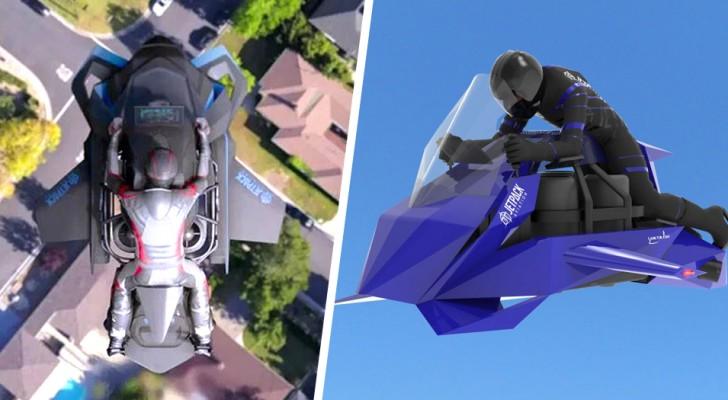 Ein Unternehmen stellt das erste fliegende Motorrad der Welt vor: Es landet und startet senkrecht und ist extrem schnell